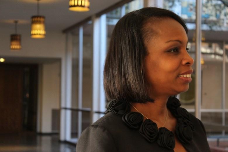 Mayor Ivy Taylor at Trinity University. Photo by Lea Thompson.