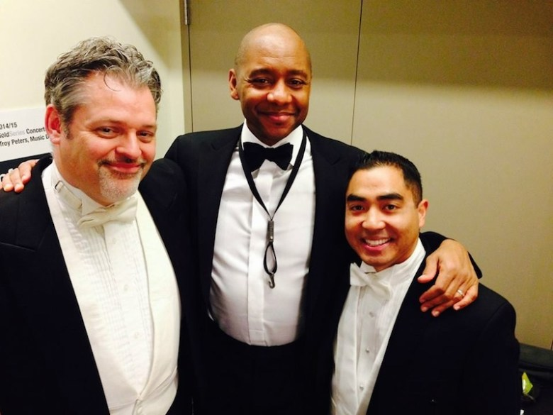 From left: Troy Peters, Branford Marsalis, and John Zarco. Courtesy photo.