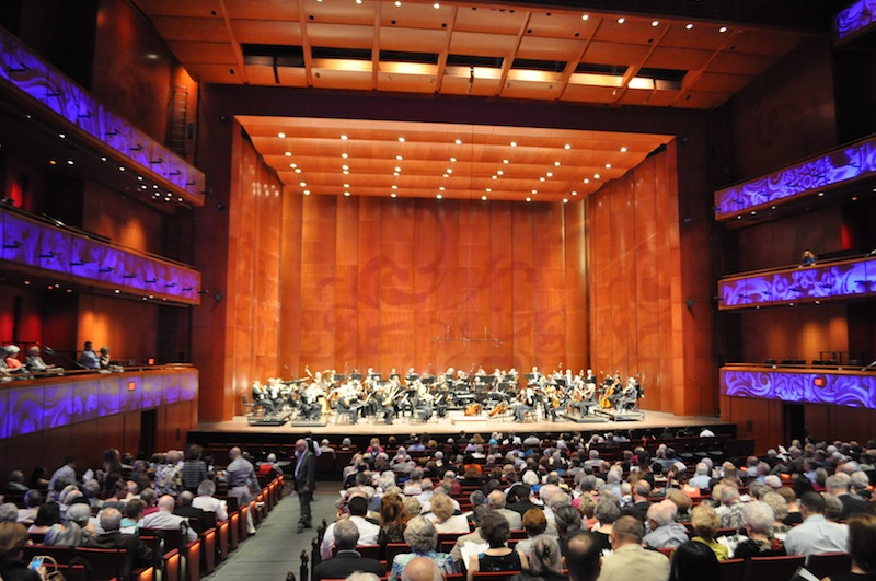 The San Antonio Symphony prepares for its final 2014-2015 season performance. Photo by Iris Dimmick.