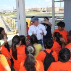 The group visits the SAWS Water Treatment Plant. Courtesy photo.
