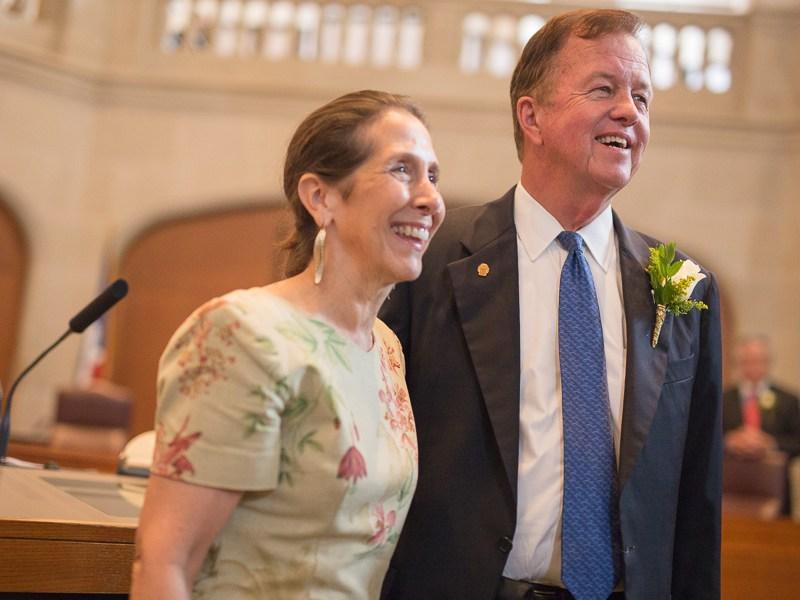 Councilman Joe Krier and his wife. Phott by Scott Ball.