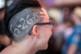 Cristela Treviño displays her new haircut. Photo by Scott Ball.