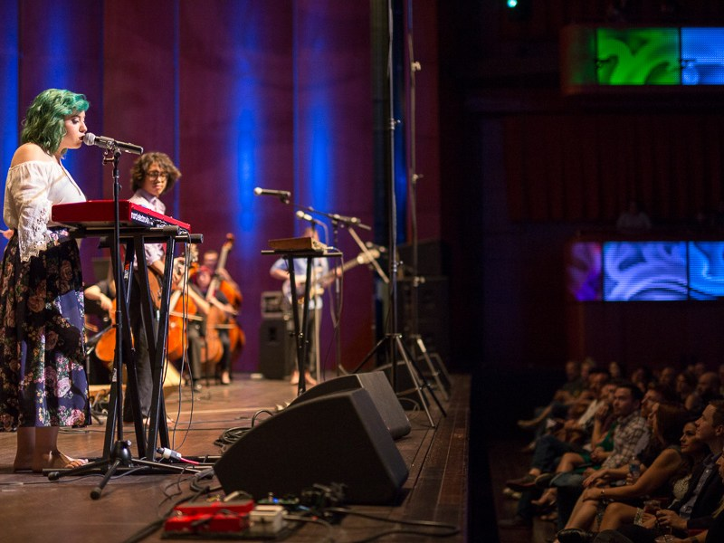 Octahedron performs Let Down. Photo by Scott Ball.