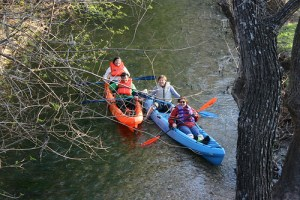 Superior and her fellow Sisters enjoying the San Antonio River at its headwaters circa 2010. Photo courtesy Headwaters at Incarnate Word, Inc.