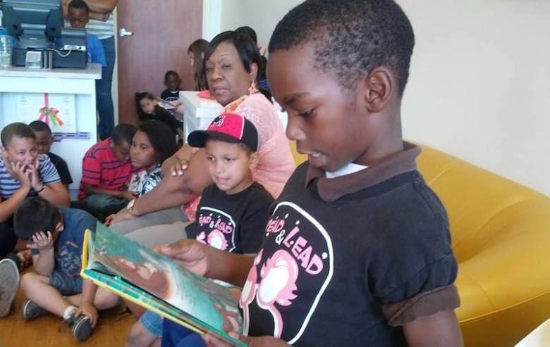 A group of children read during the Read & Lead literacy program. Courtesy photo.