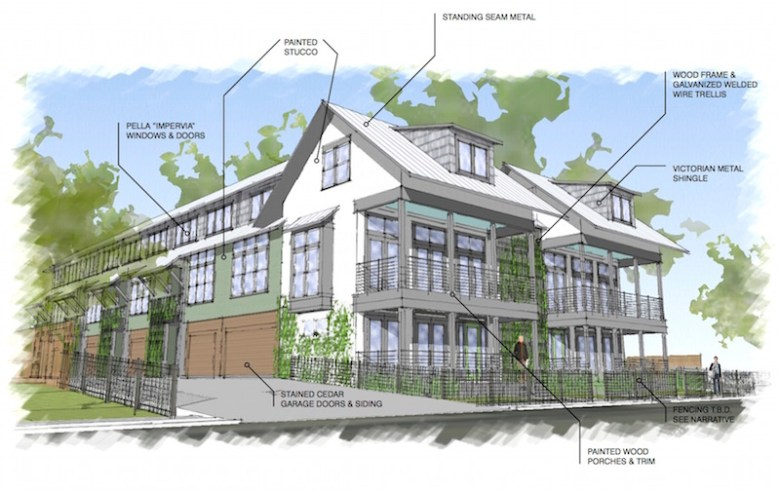 Rendering of the 10-unit building. Courtesy image.