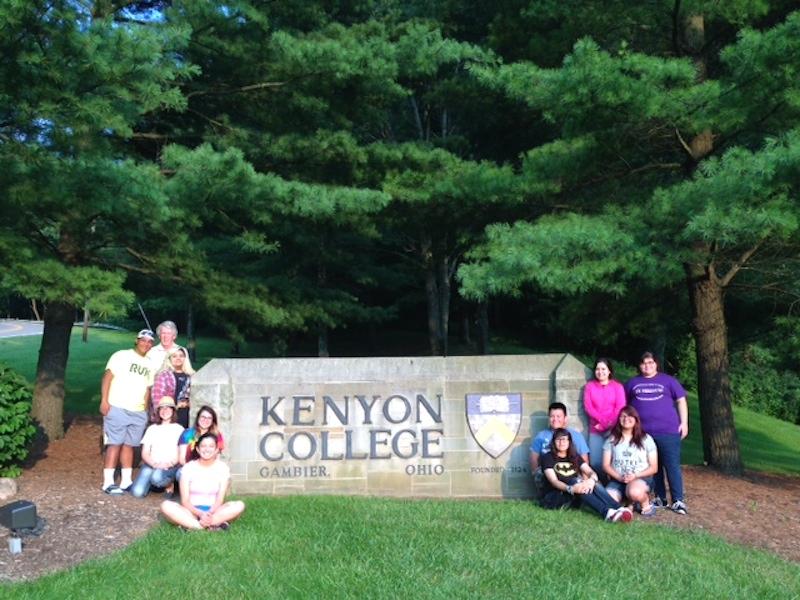 Brackenridge High School students tour Kenyon College during a previous trip. Courtesy photo.