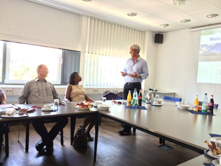 Darmstadt Lord Mayor Jochen Partsch welcomes Mayor Taylor