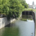 The San Pedro Creek channel downtown was designed for flood control. Photo by Don Mathis.