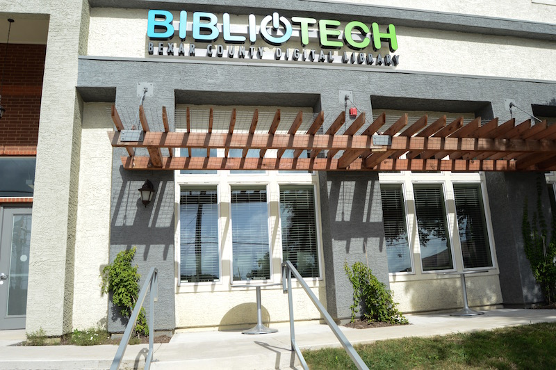 The second BiblioTech branch, located in the Gardens of San Juan at 2003 S. Zarzamora, is the first digital library in the country to be developed within a housing project. Photo by Lea Thompson.