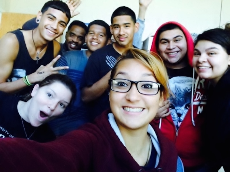 Por Vida students take a selfie. Courtesy photo.