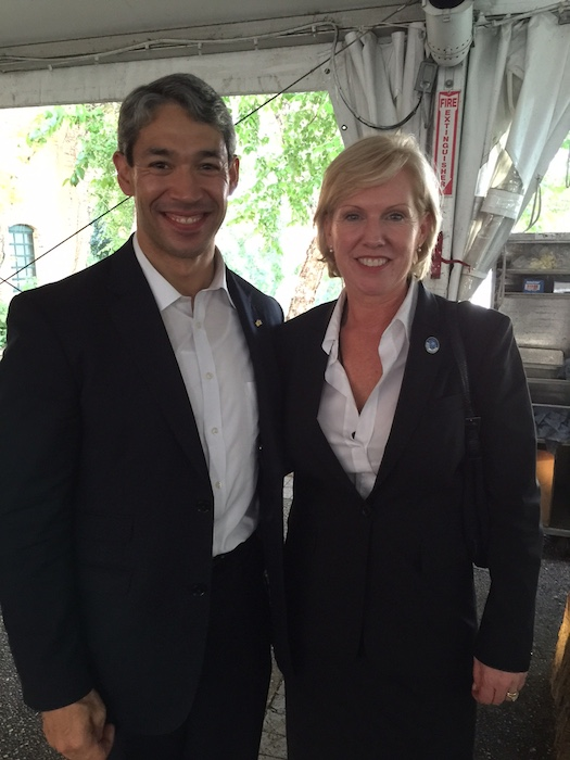 Councilmember Ron Nirenberg (D8) with Sister Cities International President Mary Kane. Courtesy photo.