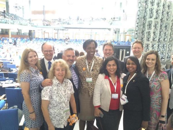 US Amb. Crystal Nix-Hines with member of the San Antonio delegation. Photo courtesy of City of San Antonio.