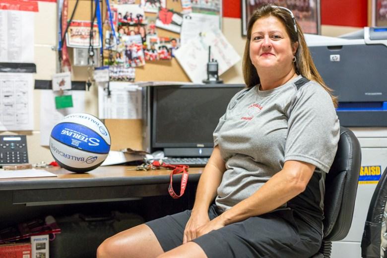 Tafolla Middle School girls basketball coach Cheryl Pell-Fernandez. Photo by Scott Ball.
