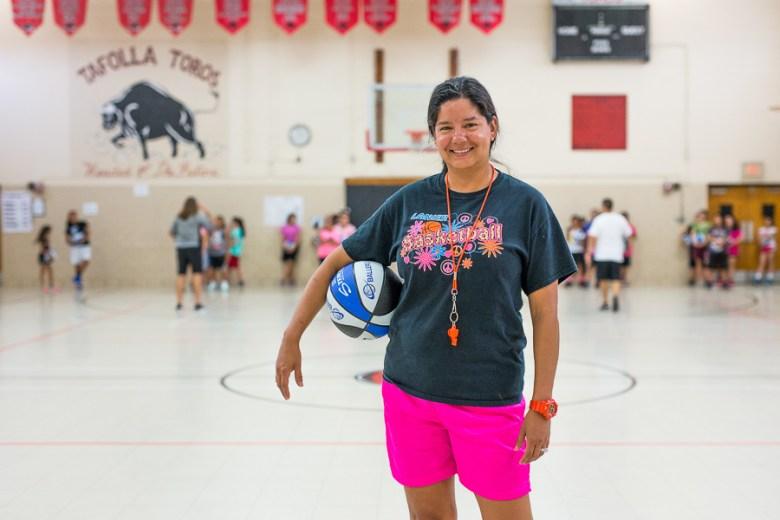 Lanier girls basketball head coach Laura Negrete-Fernandez. Photo by Scott Ball.
