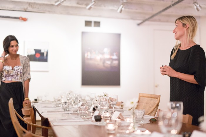 Co-owners Faith Haddad and Lawson Ellzey set up for a private dinner. Photo by Scott Ball.
