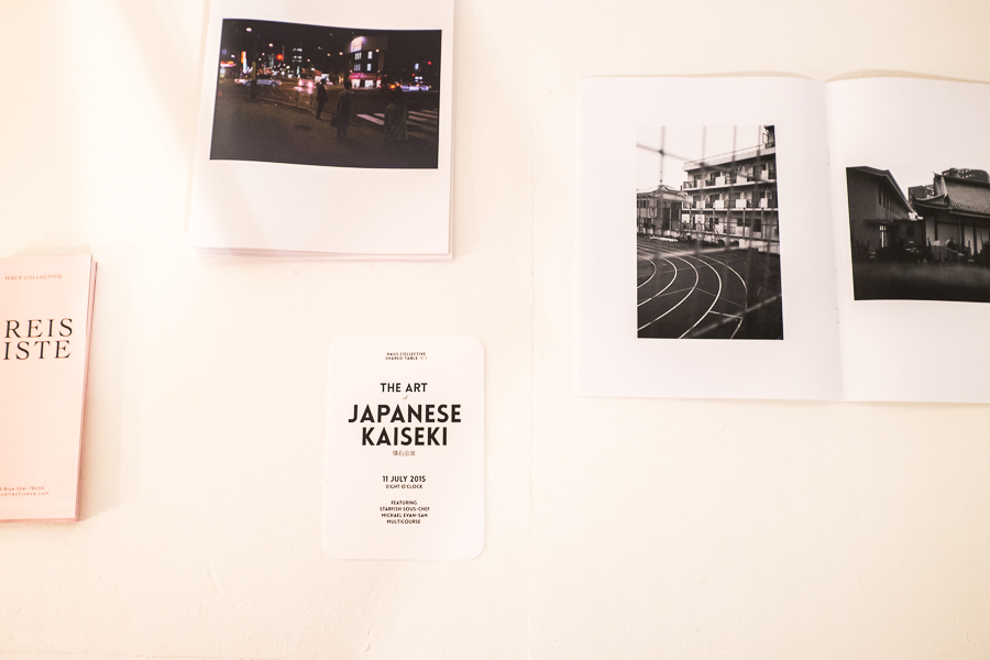 A zine by featured artist Robert Pecina Jr. and other promotional materials at Haus Collective. Photo by Scott Ball.