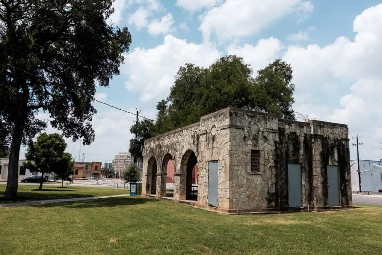 The locked facilities located at Maverick Park. Photo by Scott Ball.