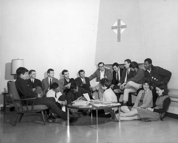 Historical photo of the Southern Student Organizing Committee. Public Domain.
