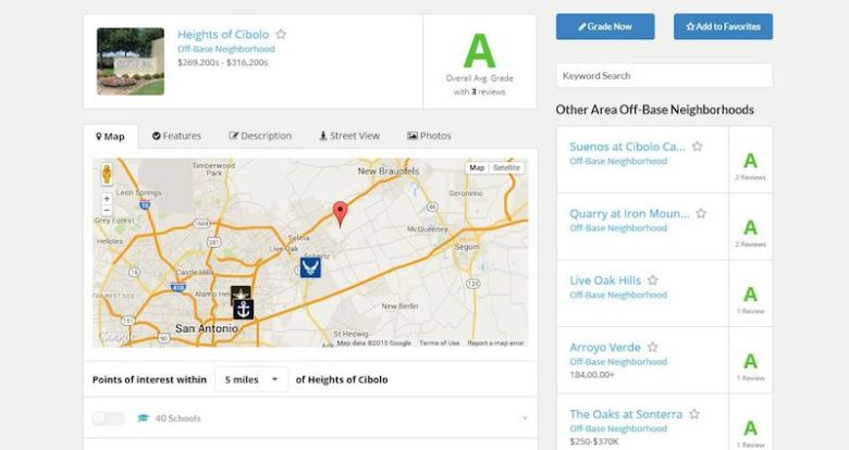 A screenshot of a neighborhood that was graded in San Antonio.