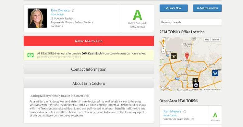 A screenshot of a user-written review of a realtor.