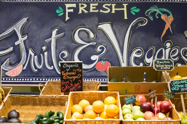Fresh fruits and vegetables on display at Blue Star Provisions in Southtown.