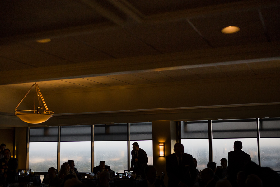Attendees gather at the Plaza Club in the Frost Bank Building. Photo by Scott Ball.