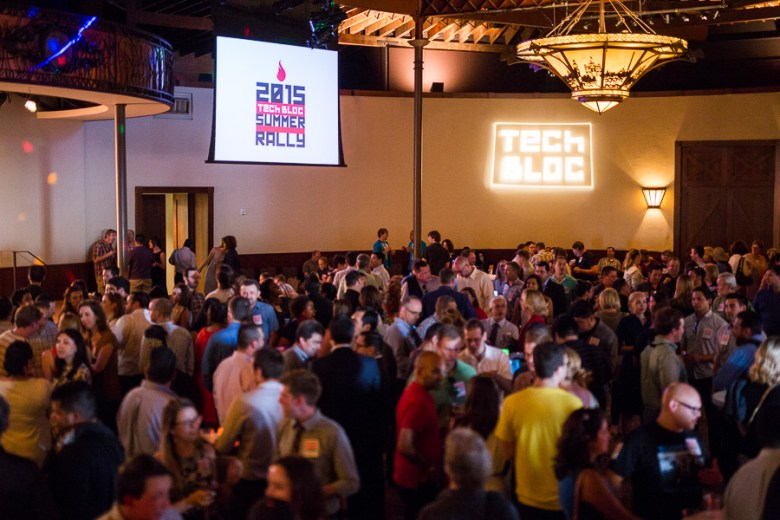 The crowd at the 2015 Tech Bloc Summer Rally. Photo by Scott Ball.