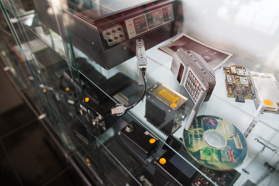 David Monroe's private collection of technological artifacts. Photo by Scott Ball.