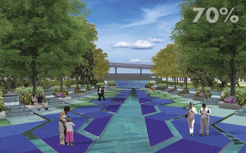 San Pedro Creek Improvements Project 70% design renderings. Courtesy of Muñoz & Co.