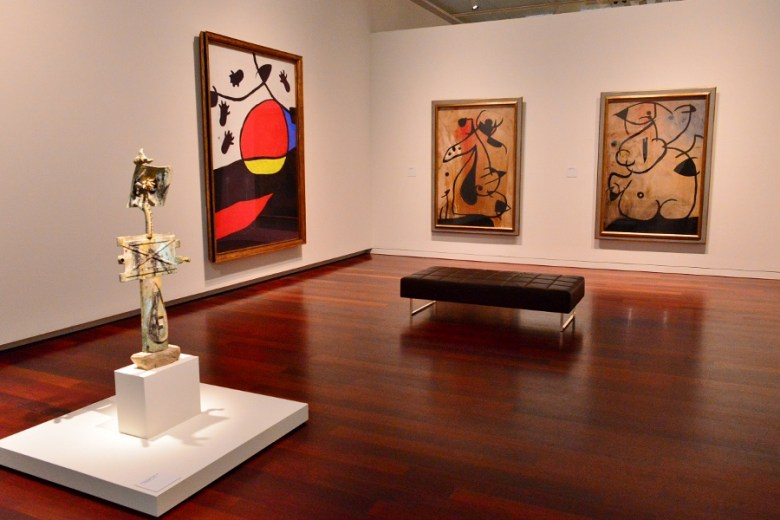 """""""Miro: The Experience of Seeing"""" at The McNay Museum of Art, September 2015. Photo by Page Graham."""