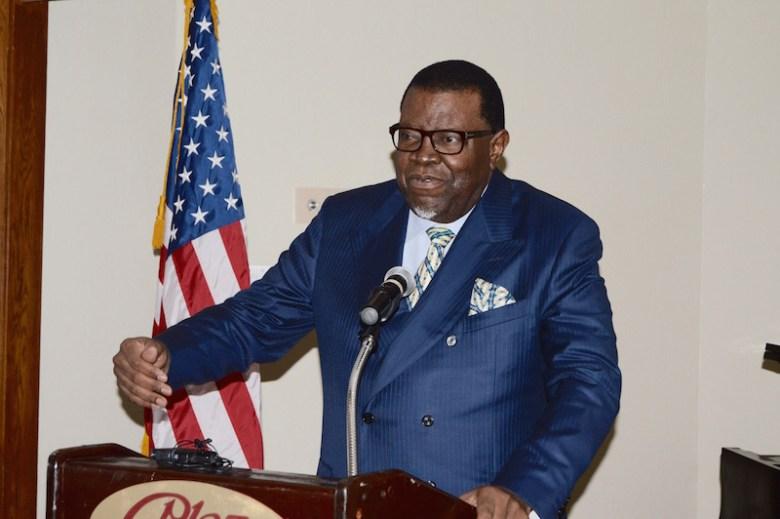 Namibian President Hage Geingob. Photo by Lea Thompson.
