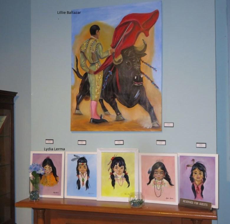Work from Lillie Baltazar on display at the Commander's House. Photo by Warren Lieberman.