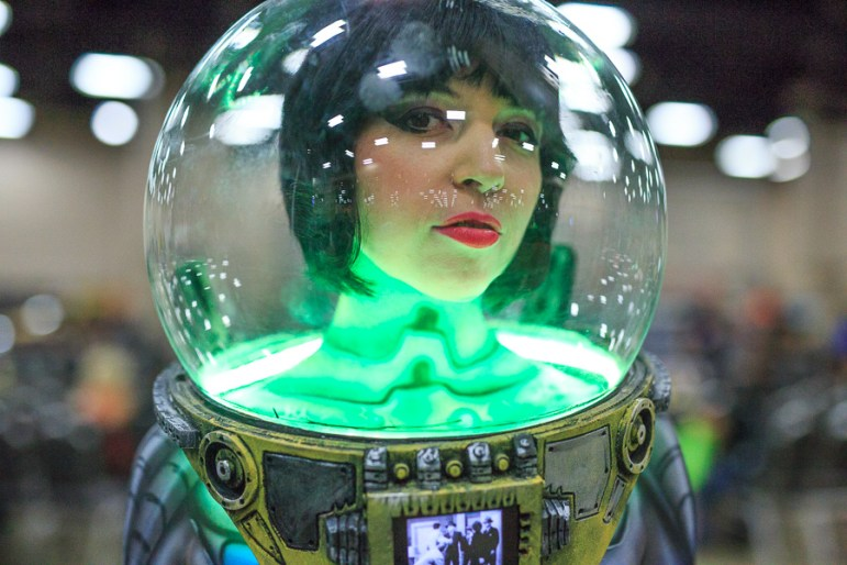 Natalyn Kylie cosplays as a Sci-Fi droid. Photo by Scott Ball.