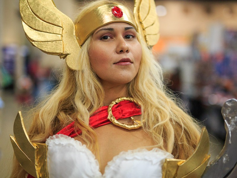Jessica J. Herrera cosplays as Shera the Princess of Power. Photo by Scott Ball.