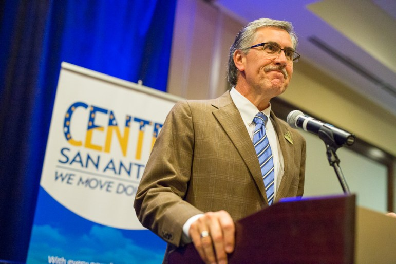 Centro President and CEO, Pat DiGiovanni welcomes members to the urban renaissance luncheon. Photo by Scott Ball.