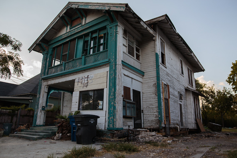 A vacant home in the near Eastside neighborhood of Dignowity Hill. Photo by Scott Ball.
