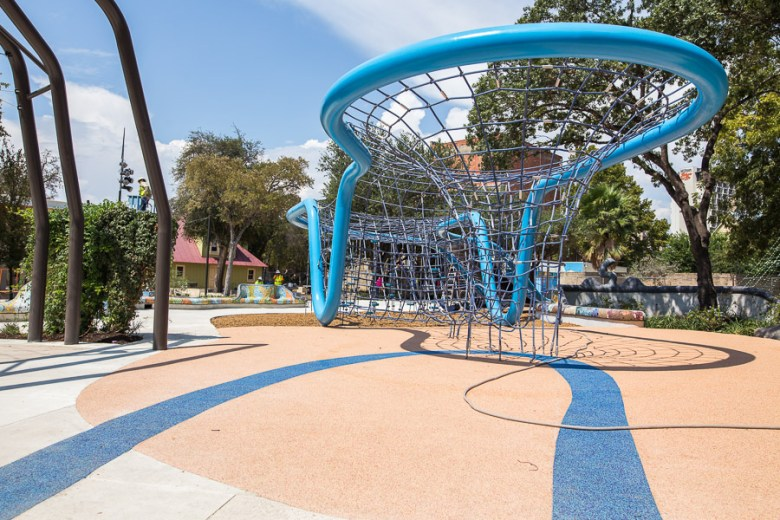 A play structure at Yanaguana Gardens. Photo by Scott Ball.