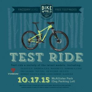 Bike World is offering Trek test rides in McAllister Park Saturday. Courtesy image