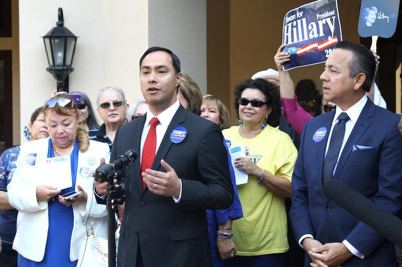 U.S. Rep. Joaquín Castro endorses Hillary Clinton for president and officially announces her San Antonio visit. Photo by Rocio Guenther.