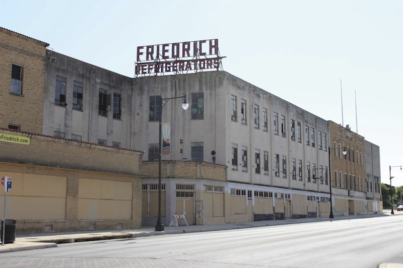 These buildings that make up the Friedrich Refrigeration complex are designated historic by the City. Courtesy photo.