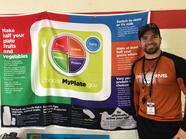 Jaime Garcia incorporates nutrition and health into elementary physical education, thanks to curriculum developed with the help of a PEP Grant. Photo by Bekah McNeel.
