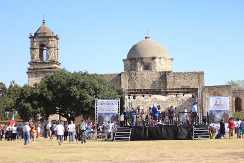 The World Heritage Inscription Ceremony at Mission San José. Photo by Joan Vinson.