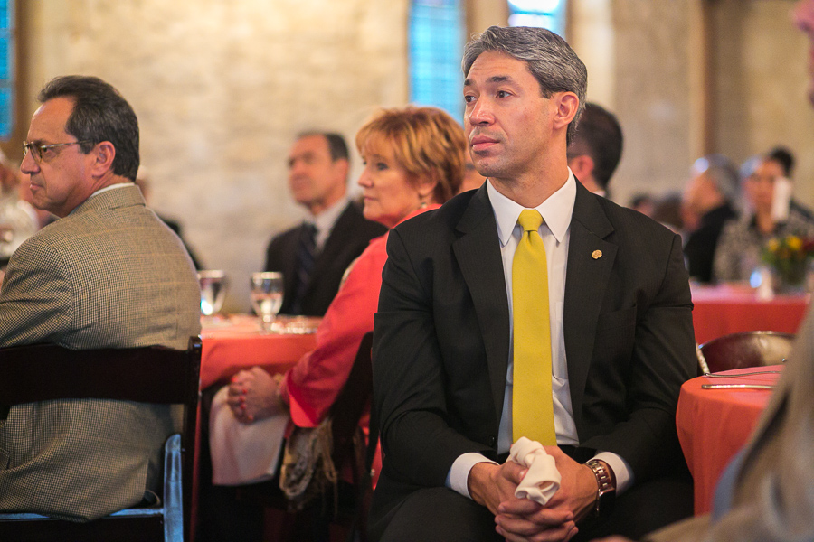 Councilmember Ron Nirenberg (D8) in attendance for the AEM luncheon. Photo by Scott Ball.