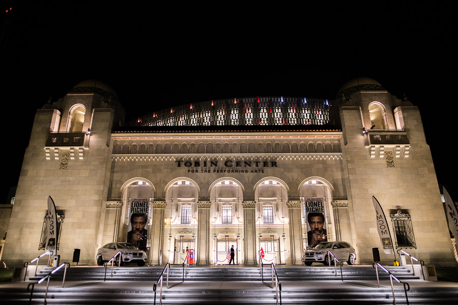 The Tobin Center for the Performing Arts during the 2015 U.S. Army Soldier Show. Photo by Scott Ball.