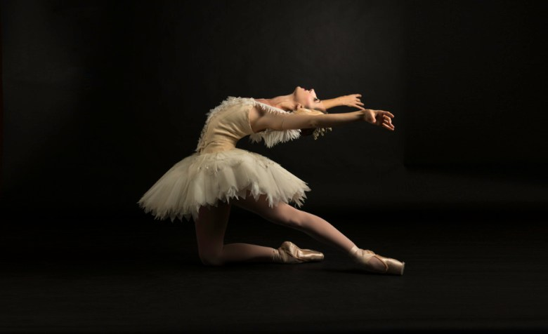 Ballet San Antonio Principal dancer Sally Turkel in Swan Lake. Photo by Alexander Devora, courtesy Ballet SA.