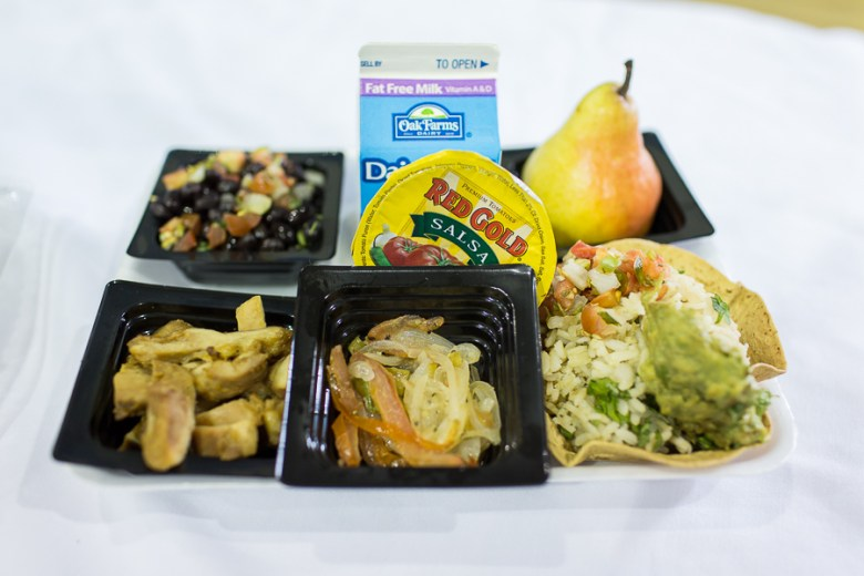 A typical lunch in SAISD with southwestern flavors. Photo by Rachel Chaney.