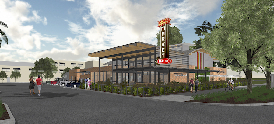 A rendering of H-E-B's South Flores Market. Courtesy of H-E-B.