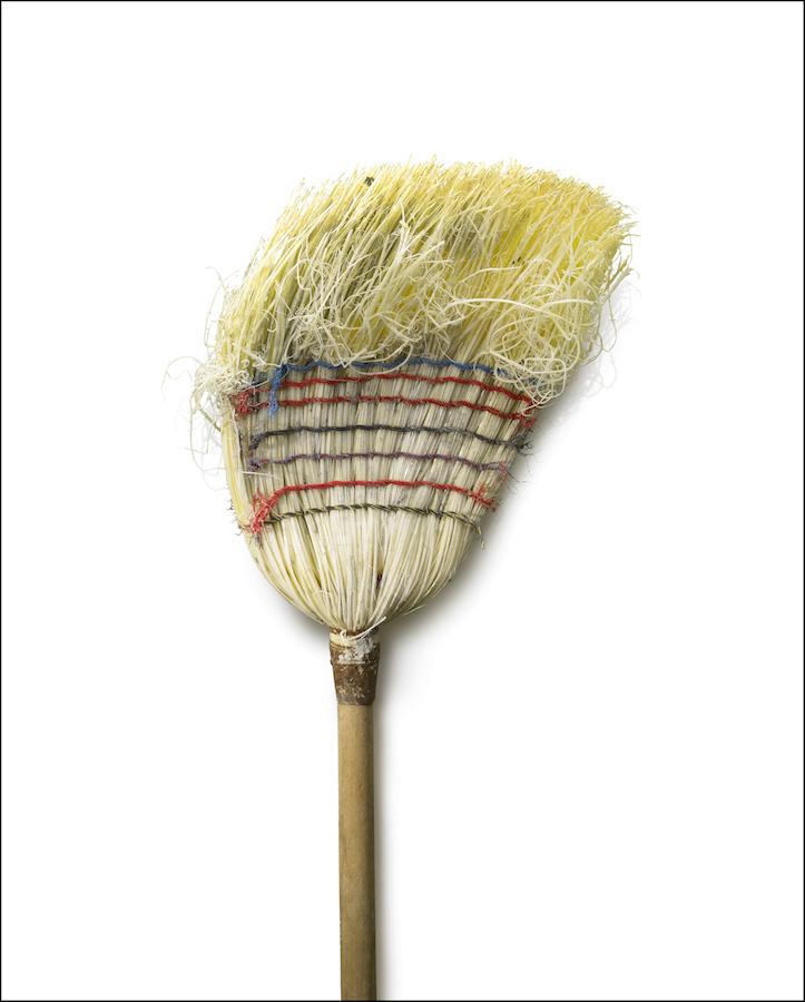 "Chuck Ramirez - Brooms: Pale Yellow - 2/3photograph on archival paper, 60 x 48"". Courtesy of Ruiz-Healy Art."