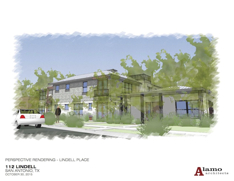 A conceptual rendering of 112 Lindell Place. Image courtesy of Alamo Architects.